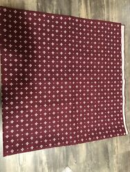"""Longaberger 45"""" Fabric Square Traditional Red Table Overlay New"""