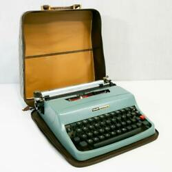 Vintage Typewriter With Trunk Pan Case Old Andtimes Olivetti Working Antique