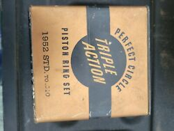 Vintage Perfect Circle Piston Rings Set In Sealed Box Ford