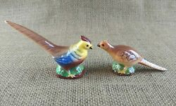 Vintage Pheasant Salt And Pepper Shakers Made In Germany