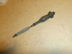 Vintage Victorian Woman Lady Head Face Sterling Silver Handle Nail File