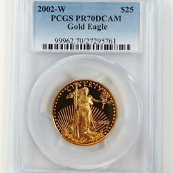 2002 American Eagle Walking Liberty Gold 25 Coin 1/2 Oz Proof Pcgs Pr70