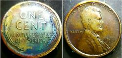 1918 S Lincoln Wheat Penny Cent Beautiful Toning
