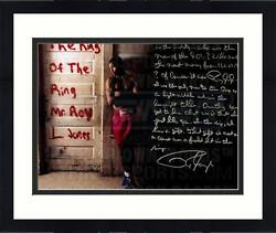 Framed Roy Jones Jr Signed 16and039and039 X 20and039and039 Boxing Photo And In Their Own Words Insc