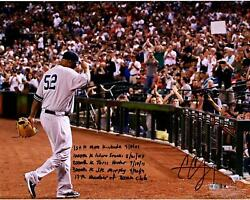 Cc Sabathia Yankees Signed 16x20 To The Dugout Photo And Strikeout Inscs - Le 52