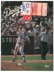 1976 Rick Monday Saves The Flag Ticket Stub And Program Cubs Vs Dodgers 4/25/76