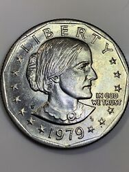 Susan B Anthony Liberty 1979 P One Dollar U.s. Mint Coin Very Rare Coin