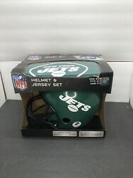 Youth Nfl New York Jets Franklin Sports Helmet And Jersey Set Ages 5-9