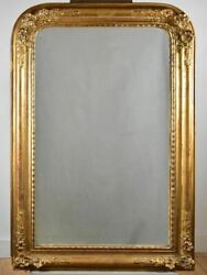 Pretty Antique French Mirror With Floral Frame 28 X 41¼