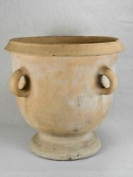 Antique French Castelnaudary Terracotta Planter With Four Handles 17andfrac34