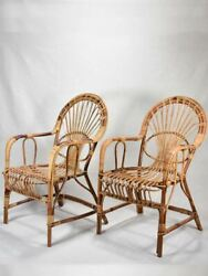 Pair Of Winter Garden Rattan Armchairs - 1960and039s