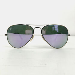 Preowned Copper Frame Aviator Purple Mirrored Lens Sunglasses Rb3025 Bx1