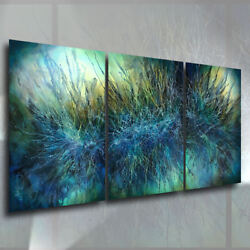 Large Abstract Art Original Painting Moment In Time Modern Decor Mix Lang Deco