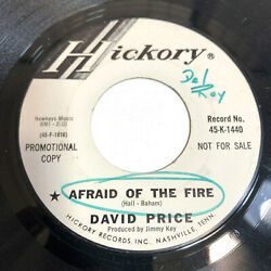 David Price 45 Afraid Of The Fire 1967 Country Honky Tonk Nm- Vinyl Record 7