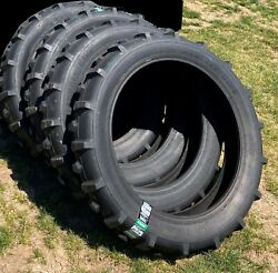 4 New Irrigation Tires 11.2 38 Harvest King Non Directional 6 Ply Tubeless Fs