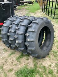 4 New Irrigation Tires And 4 Tubes 11.2 24 Harvest King Non Directional 6 Ply Fs