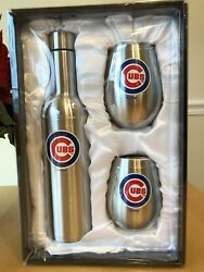 Nib Stainless Mlb Chicago Cubs 28oz Bottle And 2 12oz Tumblers Set New In Box
