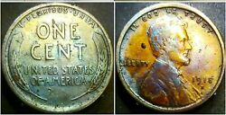1918 S Lincoln Wheat Penny Cent, Unc, Beautiful Toning
