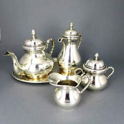 Tea And Mocha Set In 800 Silver