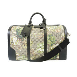 Pre-owned 406380 Gg Blooms Boston Bag Beige Free Shipping