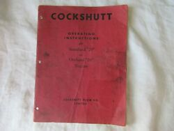 1948 Cockshutt 70 Standard And Orchard Tractor Operator's Instruction Manual