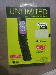 Lg Classic Flip 4g Lte Cell Phone - Straight Talk. Free Usa Shipping. New
