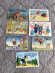 Lot Of 40and039s 50and039s Post Cards Cigarettes Dexter Press War Mwm Military W.m. Stamp