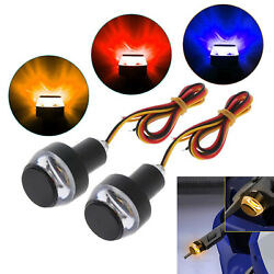 2pcs Handlebar Light Turn Signal Indicator Dc12v For Motorcycle Accessories