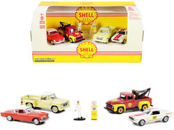 Greenlight Diorama Shell Oil Service Station Ford Dodge Shelby Studebaker Et
