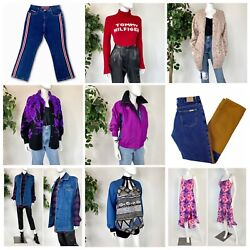 Vintage 70s-y2k Mystery Haul Women's Clothing Lot 50 Pieces Excellent Condition