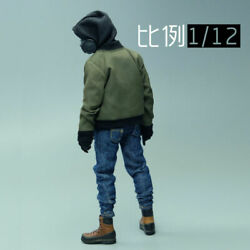 1/12 Scale Trendy Jacket Hoodie Shirt Jeans Model Clothes For 6 Dam 3atoys Body