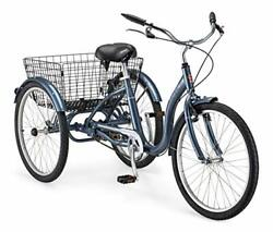 Meridian Adult Trike Three Wheel Cruiser Bike Multiple Speeds 24-inch Wheels