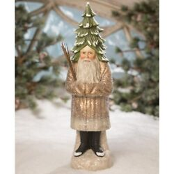 Bethany Lowe Old Gold Evergreen Belsnickle Santa Td9041 Free Ship