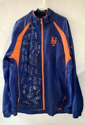New York Mets 2019 Team Signed Reebok Jacket 34 Mint Auto Jacob Degrom Cy Alonso