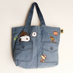New Peanuts Snoopy Beagle Scout Jean Tote Bag Peanuts Collection