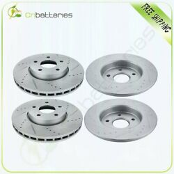 Fits 2012-2018 Ford Focus Brake Rotors Front 278mm Rear 271mm Drill Slot