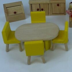 Pintoy Bundle Job Lot Of Dolls House Furniture And Doll Bathroom Kitchen Dining