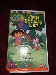Dora The Explorer - Whose Birthday Is It Vhs Rare Oop Hard To Find Petsonalized