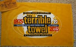 Pittsburgh Steelers 2015 Terrible Towel With Birth Certificate Steelers Nation