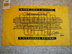 Pittsburgh Steelers Terrible Towel The Legend Of The Terrible Towel With Tag