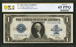 1923 1 Silver Certificate Banknote Fr-239 Pcgs Certified Gem Uncirculated-65ppq