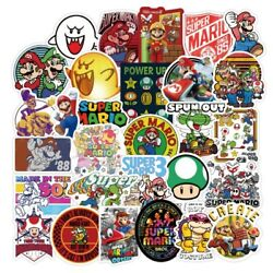 50pcs Super Mario Kart Removable Wall Decal Stickers Luggage Laptop Bottle Party