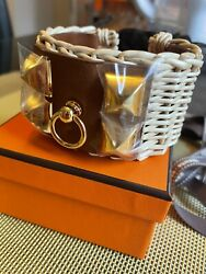 Ultra Rare Hermes Cdc Picnic Bracelet With Ghw