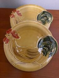 Lot Four 4 New Vietri Pronto Salad Plates 8 1/2 Made In Italy Pottery