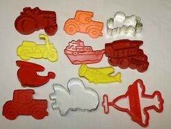 Cookie Cutters Vehicles Truck Helicopter Car Tractor Ufo Space Ship Motorcycle