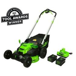 Pro 25 In. 60-volt Cordless Battery Self Propelled Walk-behind Lawn Mower With