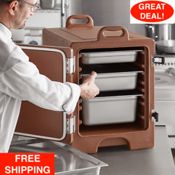 Hot Cold Insulated Food Pan 5 Full-size Carrier Box Catering Chafing Dish Box