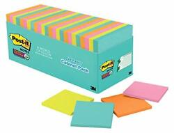 Post-it Super Sticky Notes 3x3 Inches 24 Pads 2x The Sticking Power Miami Col...