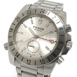Tudor 20200 Gmt Aeronote Date Automatic Menand039s Wristwatch Ss Silver