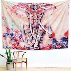 Tapestry Wall hangings Pink and Purple Hippie Trippy Large Elephant